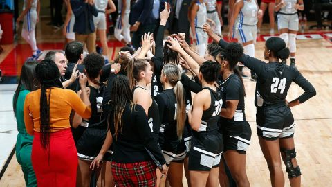Austin Peay State University Women's Basketball plays Belmont at the Dunn Center, Saturday. (Robert Smith, APSU Sports Information)