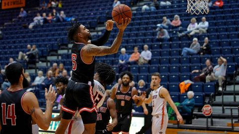 Austin Peay State University Men's Basketball gets 92-81 road win against UT Martin Saturday to remain unbeaten in OVC play. (APSU Sports Information)