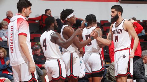 Austin Peay State University Men's Basketball takes on Belmont at the Dunn Center, Saturday afternoon. (Robert Smith, APSU Sports Information)
