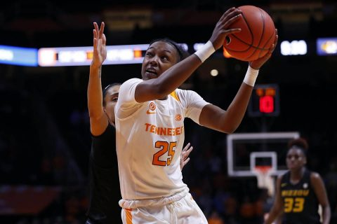 Tennessee Women's Basketball freshman Jordan Horston scored 19 points in Lady Vols win over Missouri Thursday. (UT Athletics)