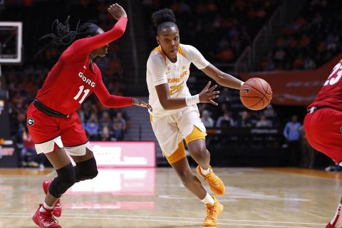Tennessee Women's Basketball freshman #25 Jordan Horston had 14 points and 6 rebounds in victory over Georgia at Thompson-Boling Arena Sunday afternoon. (UT Athletics)