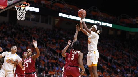 Tennessee Women's Basketball defeats Alabama 65-63 at Thompson-Boling Arena, Monday night. (UT Athletics)