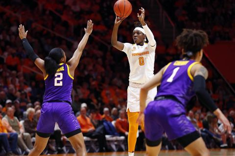 Tennessee Women's Basketball beats LSU 63-58 at Thompson-Boling Arena, Sunday. (UT Athletics)