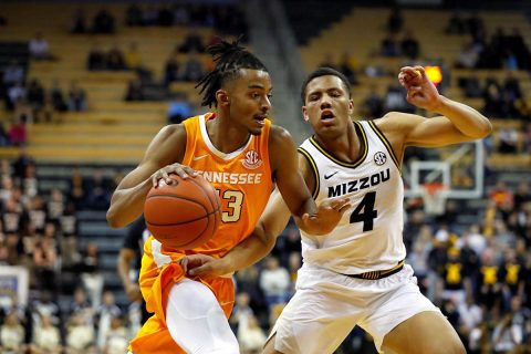 Tennessee Men's Basketball junior Jalen Johnson had a career high 11 points in win against Missouri, Tuesday night. (UT Athletics)