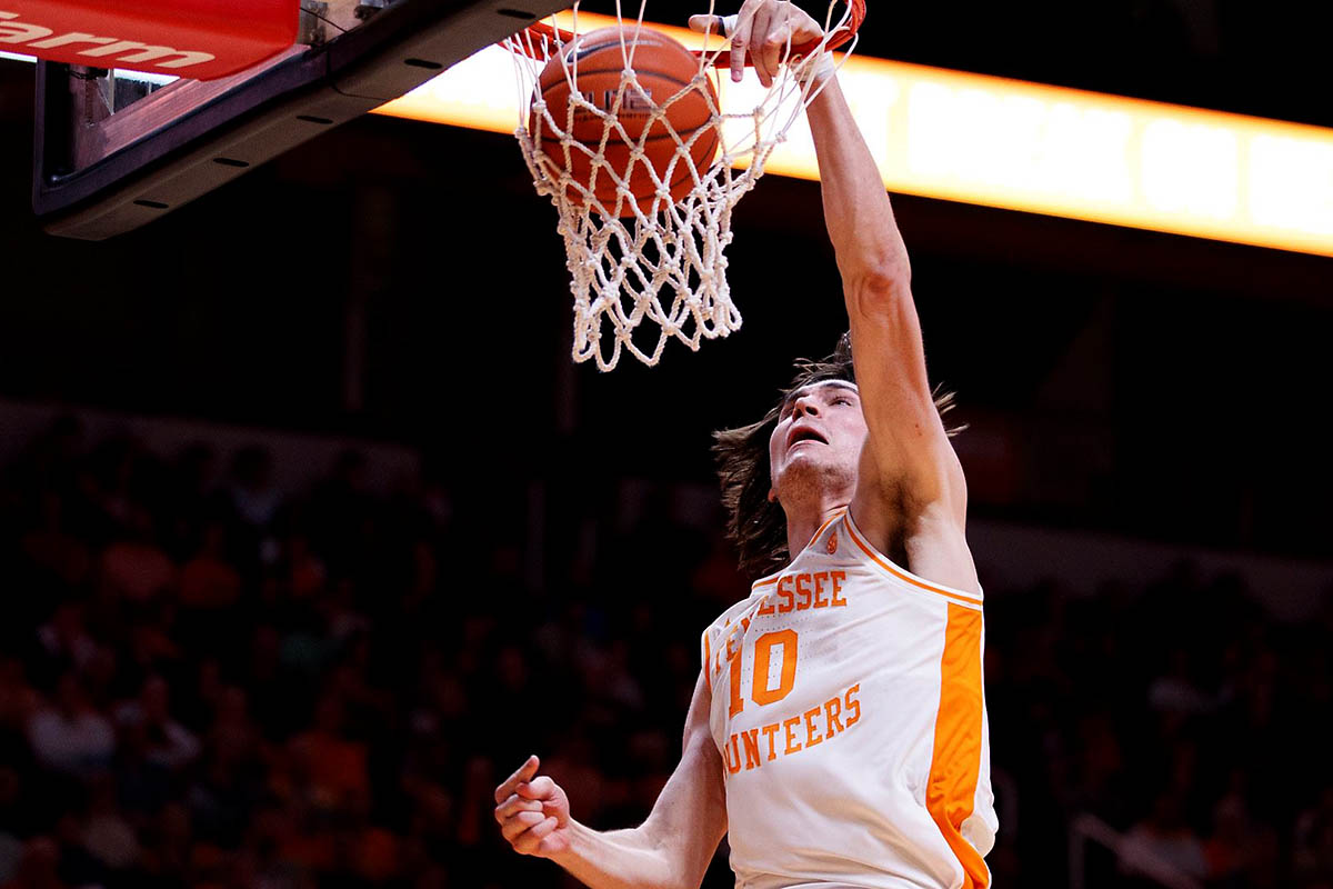 Tennessee Men's Basketball junior John Fulkerson led the Vols with 15 points in victory over South Carolina Saturday afternoon. (UT Athletics)