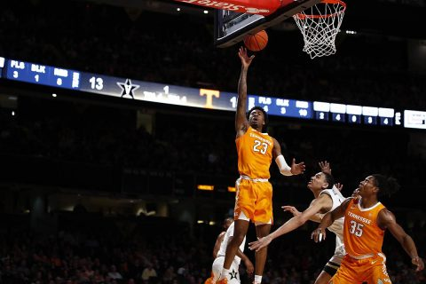 Tennessee Men's Basketball senior Jordan Bowden led the Vols with 21 points Saturday against Vanderbilt. (UT Athletics)