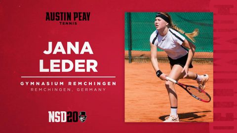 Austin Peay State University Women's Tennis signs Jana Leder for 2020 season. (APSU Sports Information)