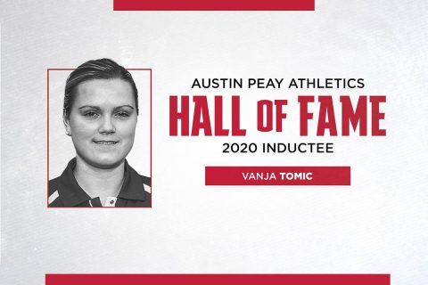 Austin Peay State University 2020 Athletics Hall of Fame inductee Vanja Tomic Vidovic. (APSU Sports Information)