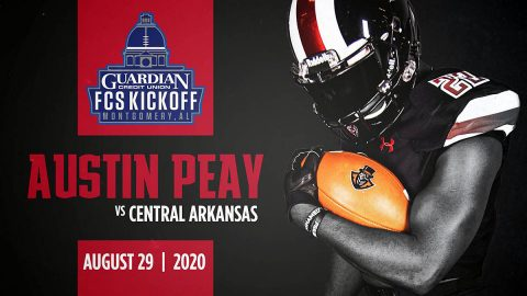 Austin Peay State University football team will open 2020 season playing Central Arkansas at the Guardian Credit Union FCS Kickoff. (APSU Sports Information)