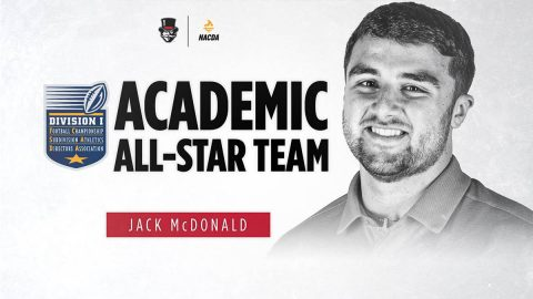 Austin Peay State University Football's Jack McDonald named to FCS ADA Academic All-Star team. (APSU)