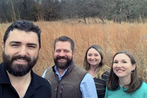 Austin Peay State University Southeastern Grasslands Initiative's Dwayne Estes and Quail Forever's Tim Caughran, Megan Hart, and Brittney Viers. (APSU)