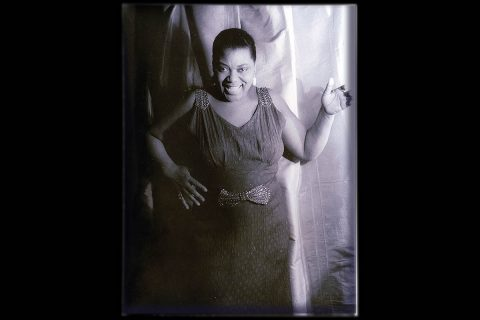 "Bessie Smith, ""Empress of the Blues,"" by Carl Van Vechten, 1936. (Image courtesy of Library of Congress, Prints & Photographs Division, Carl Van Vechten Collection)"