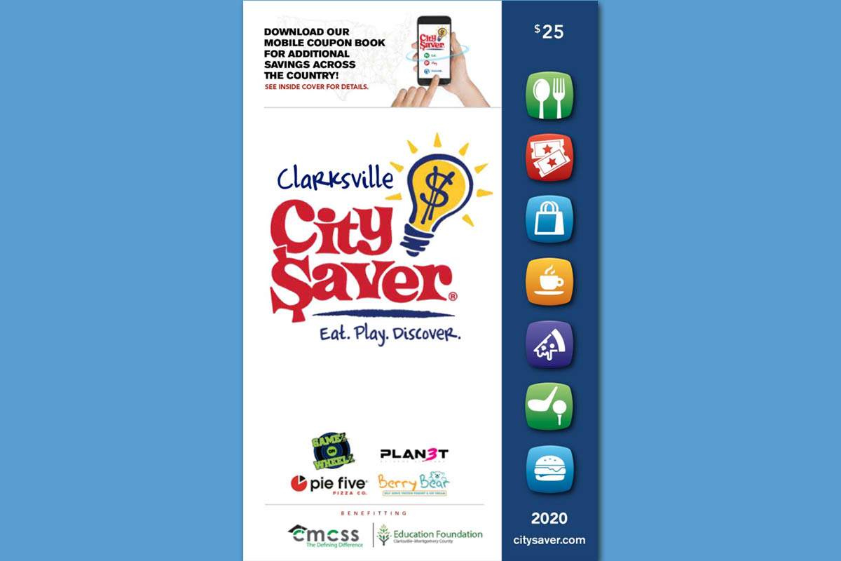 City Saver Coupon Book Helps Clarksville Montgomery County Schools Raise Money and Local Families Save Money For Ten Straight Years.