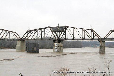 Railroad Bridge over the Cumberland River in Clarksville.
