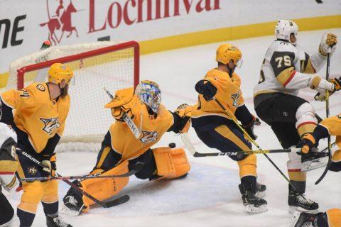 Nashville Predators fall to the Anaheim Ducks 4-2. (Michael Strasinger)