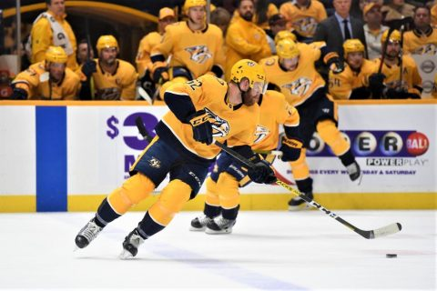 Nashville Predators defeat the New Jersey Devils 6-5 in over-time.  (Michael Strasinger)