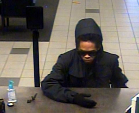The FBI is asking the public's help in identifying the suspect in this photo for the robbery of the Regions Bank in La Vergne Tennessee.