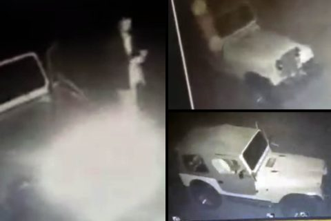 Montgomery County Sheriff's Office are searching for the driver of a white jeep for vandalism.