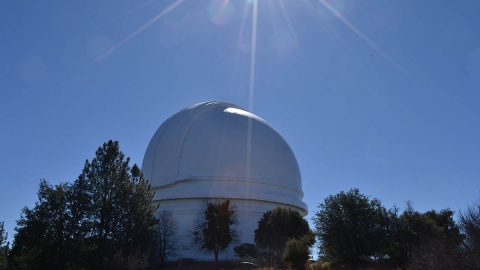 The Hale Telescope is located on Palomar Mountain in San Diego County, California. (NASA/JPL-Caltech)