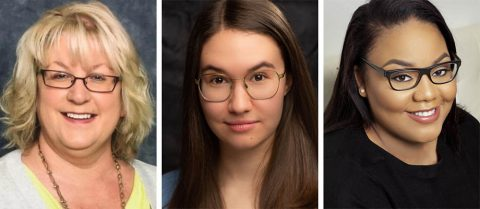 Melissa Schaffner, Annabelle Szepietowski and Alexandra West star in Eve Ensler's THE VAGINA MONOLOGUES in the Roxy Regional Theatre's theotherspace, January 17th - February 1st.