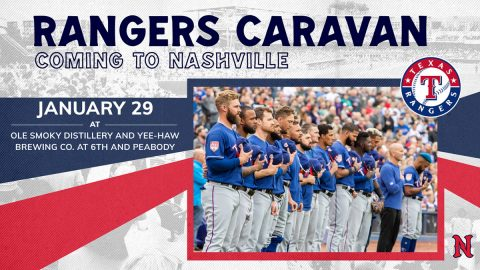 Texas Rangers Caravan Event to Feature New Sounds Manager Darwin Barney and Rangers' Players Nick Solak and Brett Martin. (Nashville Sounds)