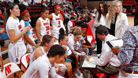Austin Peay State University Women's Basketball loses to Eastern Illinois 76-47 at the Dunn Center, Saturday. (Robert Smith, APSU Sports Information)