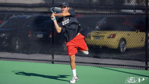 Austin Peay State University Men's Tennis takes down Carson-Newman at the Governors Tennis Center, Friday. (APSU Sports Information)