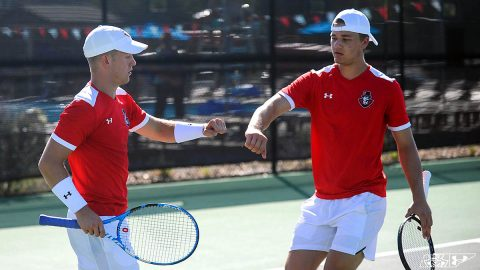 Austin Peay State University Men's Tennis defeats Martin Methodist 7-0 for fourth straight win. (APSU Sports Information)