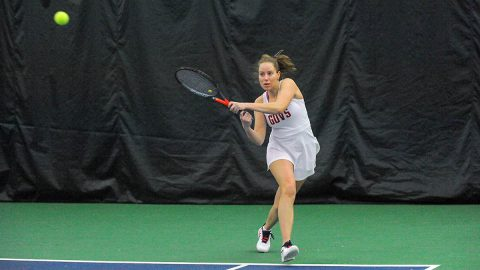 Austin Peay State University Women's Tennis falls at home to Middle Tennessee at home, Sunday. (Robert Smith, APSU Sports Information)
