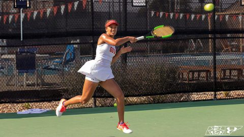 Austin Peay State University Women's Tennis finishes non-conference play at IUPUI, Friday. (APSU Sports Information)