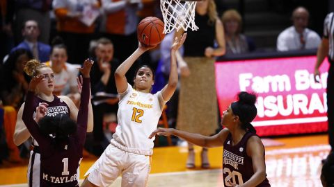 Tennessee Women's Basketball unable to maintain first half's momentum in 72-55 loss to Mississippi State at Thompson-Boling Arena, Thursday night. (UT Athletics)