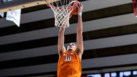 Tennessee Men's Basketball junior John Fulkerson had 25 points and nine rebounds against South Carolina, Saturday. (UT Athletics)