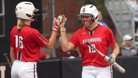 Austin Peay State University Softball beats Louisiana Tech 3-2 but then falls later to South Alabama 9-8 at the Jaguar Challenge, Saturday. (Robert Smith, APSU Sports Information)