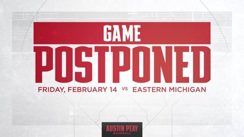 Cold weather forces postponement of Austin Peay State University Baseball's season opener against Eastern Michigan, Friday. (APSU Sports Information)