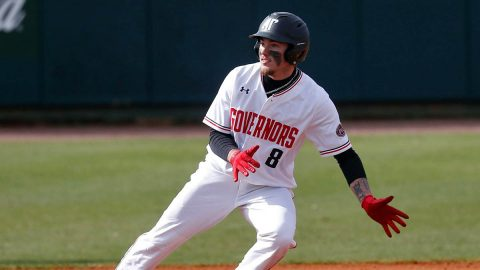 Austin Peay State University Baseball freshman #8 Skyler Luna had two hits and three RBIs in loss to Western Kentucky, Tuesday. (APSU Sports Information)