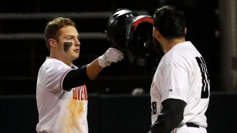 Austin Peay State University Baseball falls to Eastern Michigan 16-8 in game one of a doubleheader. The Govs beats Easetrn Michigan 7-6 in game two. (Robert Smith, APSU Sports Information)