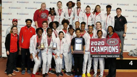 Austin Peay State University is the 2020 OVC Indoor Track and Field Champions. (Michael Wade/Wade Event Photography)
