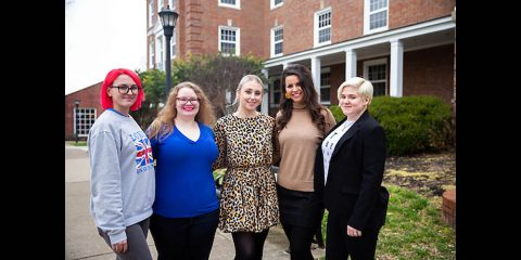 Austin Peay State University languages and literature students Calie Benke, Jessica Emerson, Micaela Cuellar, Gabriela DiCarlo and Arizona Hurn. (APSU)