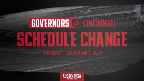 Austin Peay State University Football game at Cincinnati has been moved to September 3rd. (APSU Sports Information)