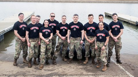 Last year's Sandhurst competition team. (APSU)