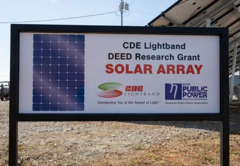 American Public Power Association gives grant to CDE Lightband for Solar Research.