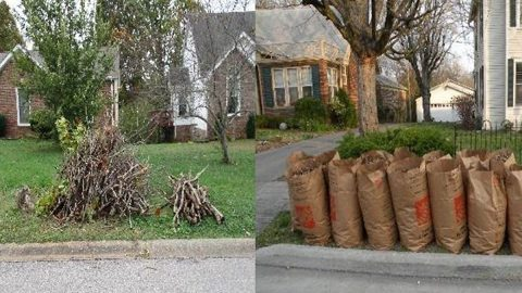Spring Cleanup Do's: During the annual Spring Cleanup, the Clarksville Street Department will pick up smaller limbs, left, and clippings and leaves placed in biodegradable bags or boxes.