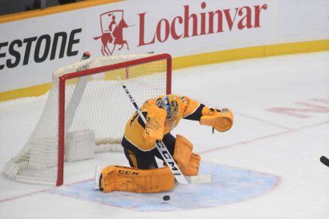 Nashville Predators defeat the Ottawa Senators at Bridgestone Arena 3-2. (Michael Strasinger)