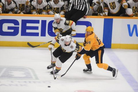 Nashville Predators fall to the Las Vegas Golden Knights 4-0. (Michael Strasinger)