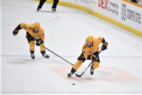 Nashville Predators fall to the Edmonton Oilers, 3-2. (Michael Strasinger)