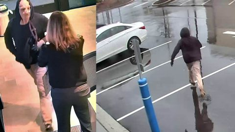 The FBI is trying to identify the person in these photos in connection to the robbery of Regions Bank at Nashville West Branch.