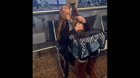Riley the Cat was reunited with his with Anne Shackelford after 12 months apart.