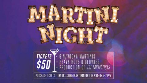 """Martini Night"" at the Roxy Regional Theatre set for Saturday, February 15th."