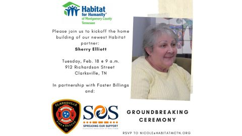 Montgomery County Habitat for Humanity breaking ground for Sherry Elliott