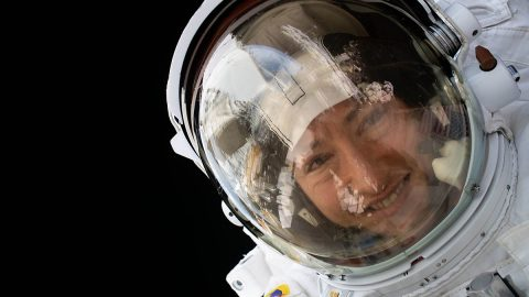 NASA astronaut Christina Koch is pictured during a spacewalk on January 15, 2020. (NASA)